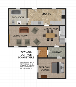 Yewdale Cottage downstairs floorplan