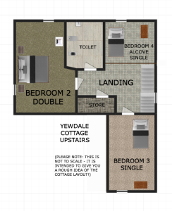 Yewdale Cottage upstairs floor plan